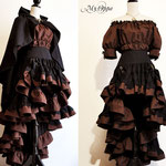 Commande My Oppa steampunk cape costume équestre spectacle show