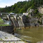 Sperre Kampstausee Thurnberg/NÖ, Ablass des Beckens, 26.8.2019
