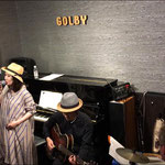 2019.4.19 「Acoustic jam」jazz village GOLBY  平田知之(g) 古賀俊作(dr) guest 椋智佐(vo)