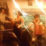 2012.7.16  とねりこParis祭 革命カルテット with ジーナ(vo)新井武人(accordion)平田知之(gt)吉田義貴(gt)