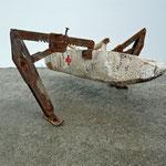 """Auf dem Weg der Besserung"" | Holz, Metall, Nagel"