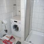 Ferienwohnung Butterfly - Bad mit Waschmaschine