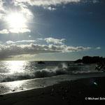 Schwarzer Lavastrand auf La Palma (Kanarische Inseln)