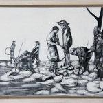 """""""Wasserspiele"""", Acryl und Grafit, 20 cm x 30 cm, gerahmt, 2013"""