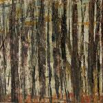 """""""Waldsichten 3"""", Acryl auf MDF, 30 cm x 60 cm, 2008"""