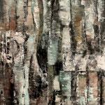"""""""Verwachsene Zeichen 1"""", Acryl auf Bw, 80 cm x 80 cm, 2012"""