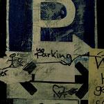 """""""Parken erlaubt"""", Papier, Acryl auf MDF. 2012"""