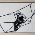 """Mutprobe"", Acryl und Grafit, 20 cm x 30 cm, gerahmt, 2013"