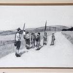 """""""Schlichtung"""", Acryl und Grafit, 20 cm x 30 cm, gerahmt, 2013"""