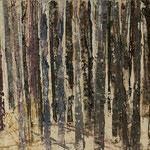 """""""Waldsichten 7"""", Acryl auf MDF, 30 cm x 60 cm, 2008"""