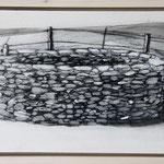 """Pause"", Acryl und Grafit, 20 cm x 30 cm, gerahmt, 2013"