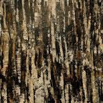"""""""Verwachsene Zeichen 2"""", Acryl auf Bw, 80 cm x 80 cm, 2012"""