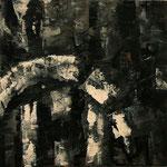 """Rundweg III"", Acryl auf Bw, 40 cm x 40 cm, 2012"