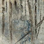 """""""Nebelgrau 2"""", Acryl auf MDF, 30 cm x 60 cm, 2008"""