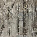 """""""Nebelgrau 4"""", Acryl auf MDF, 30 cm x 60 cm, 2008"""