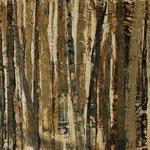 """""""Waldsichten 8"""", Acryl auf MDF, 30 cm x 60 cm, 2008"""