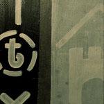 """""""Wegänderung"""", Papier, Acryl auf MDF, 2012"""