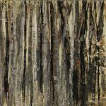 """""""Waldsichten 6"""", Acryl auf MDF, 30 cm x 60 cm, 2008"""