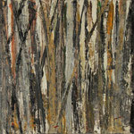 """""""Waldsichten 1"""", Acryl auf MDF, 30 cm x 60 cm, 2008"""