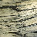 """""""Bruch"""", Acryl auf Bw, 80 cm x 80 cm, 2012"""