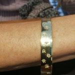 Armreif aus Altgold mit Brillanten von Kundin