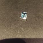 Kettenanhänger zum Durchziehen mit Blautopas (behandelt) in 925/000 Silber