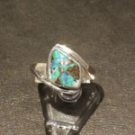 Ring mit Boulderopal in Silber