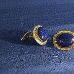 Manschettenknöpfe in Gold mit Lapis Lazuli