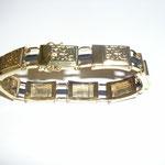 Herrenarmband in Gold mit Kautschuk nach Entwurf vom Kunden angefertigt