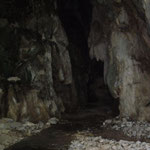 Blick in die noch unerforschte Höhle