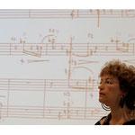 """<font size=""""2""""><i>Rund um die Sonatine (Boulez, Leibowitz, Messiaen) Konzert und Workshop 2012: Ruth Wentorf, Flöte/Susanne Gärtner, Moderation/Cordula Hacke, Klavier</i></font>"""