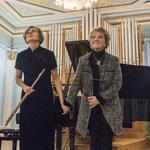 "<font size=""2""><i>mit Olga Ivusheikova, Moskau 2015</i></font>"
