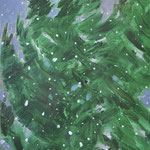 Brief snow-2, oil on canvas paper, 46x38cm, 2020