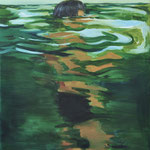 Little amphibian, oil on linen, 130x100cm, 2020