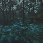 Forest in twilight, oil on linen, 65x75cm, 2021