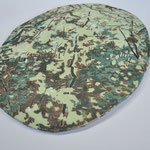 Forest, ceramic plate, approx. 25.5- 28.5cm dia., 2020