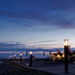 Abends auf der Seebrücke von St. Peter Ording