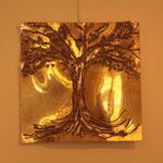 Albero della vita II, 2014, ottone, 50 x 50 cm