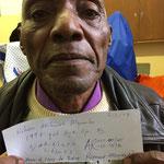 Kilian Akilimati, ehem. lorry driver von Bishop Raymund Manyika, Njombe   1998 beiderseits operiert wegen grauem Star
