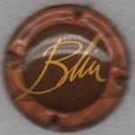 BLIN   N° 5   fond marron, contour rose