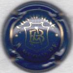 BERGERE A.   N° 4   bleu et or