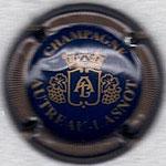AUTREAU-LASNOT   N° 9 bleu foncé et or, striée