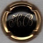 BILLIOT  H.   N° 1   noir, contour or