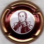 AUDOIN DE DAMPIERRE  N° 2   portrait marron, striée