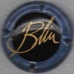 BLIN   N° 1   fond noir, contour bleu