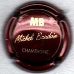 BAUDVIN Michel   N° 2   bordeaux foncé et or