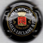 ASSAILLY-LECLAIRE   N°7  noir, or-jaune et rouge, lettres fines