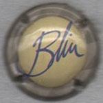 BLIN   N° 4    fond crème, contour gris