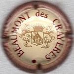 BEAUMONT DES CRAYERES   N° 1   crème, bordeaux et or, striée