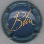 BLIN   N° 2   fond bleu, contour bleu pâle